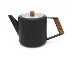 Teekanne Duet Boston 1,1L schw. matt Holz