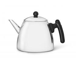 Teekanne Classic mit flachem Boden 1,2L schwarz