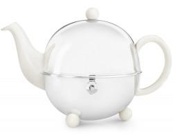 Teekanne Cosy® 1,3L crèmeweiβ Steingut