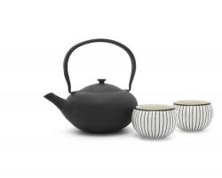 Teekanne Shanxi Gusseisen + 2 Cups schwarz