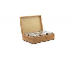 Bambus-Teebeutelbox mit 6 Teedosen