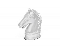 Spardose Pferd silbrig