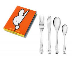Kinderbesteck Kaninchen miffy, 4-teilig