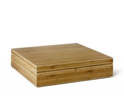 Teebeutel-Kiste, 12 Fächer, Bambus