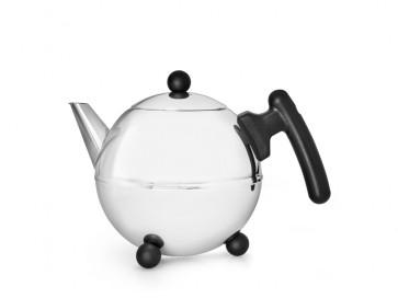 Teekanne Bella Ronde 0,75L, schwarze Beschläge