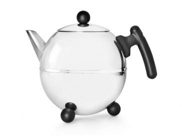 Teekanne Bella Ronde 1,5L, schwarze Beschläge