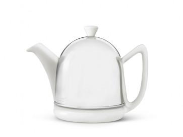 Teekanne Manto 0,6L weiβ Steingut