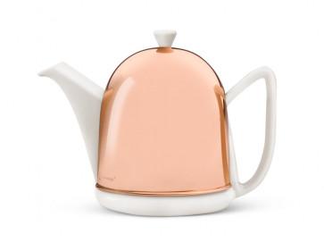 Teekanne Cosy Manto 1,0L weiß/Kupfermantel