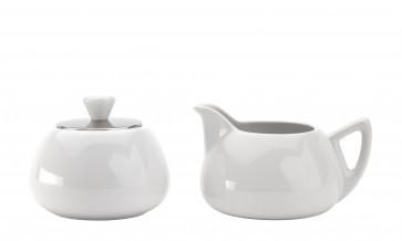 Manto Milch- & Zuckertopf-Set, weiß