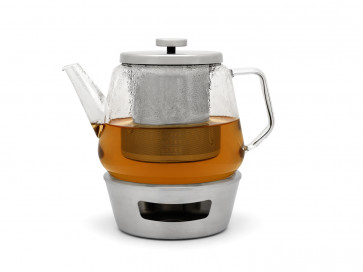 Tee-Set Bari Glas 1,5L + Filter + Stövchen