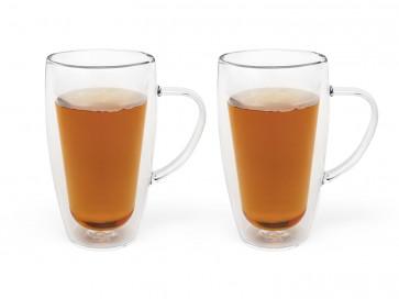 Doppelwandiges Tee&Kaffeeglas 320ml 2erSet