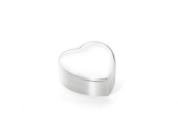 Schmuckschatulle + Spieluhr Herz silbrig