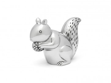 Spardose Eichhörnchen silbrig