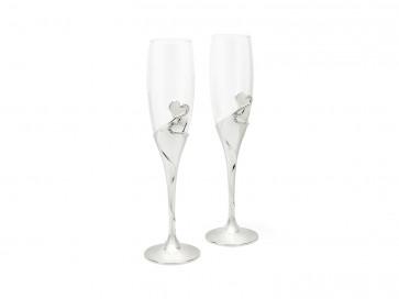 Champagnergläser Herzen & Bänder vers. anl. 2er-Set
