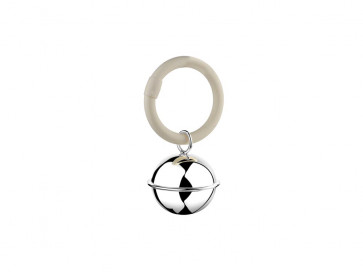 Rassel Ball Fadenrand am Ring 925er Silber