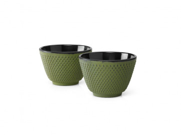 Teebecher Xilin Gusseisen grün 2er-Set