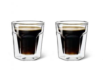 Doppelwandiges Glas 100ml 2er-Set