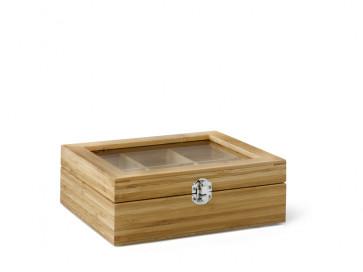 Teebeutel-Kiste, 6 Fächer, Bambus