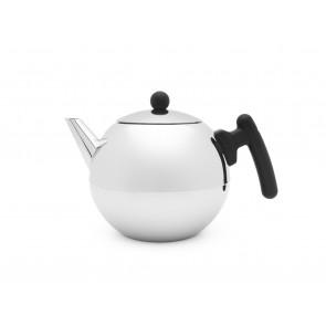 Teekanne Bella Ronde 1,2L mit flachem Boden schwarz