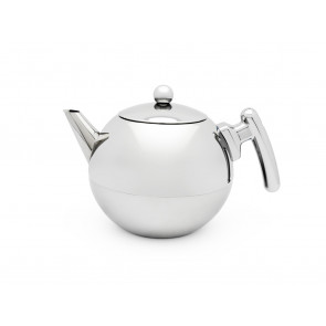 Teekanne Duet® Bella Ronde 1,2L mit flachem Boden chrom