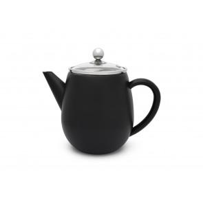 Teekanne Duet Eva 1,1L schwarz matt