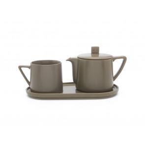 Tea-for-one Set Lund, grau