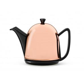 Teekanne Manto 1,0L, schwarz, Kupfer-Mantel