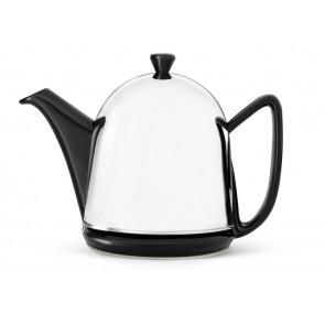 Teekanne Manto 1,0L schwarz Steingut