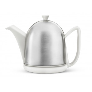 Teekanne Manto 1,0L Steingut weiβ matt