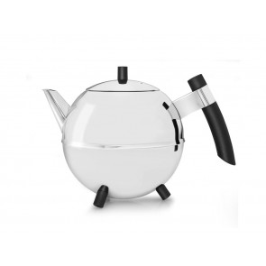 Teekanne Meteor, 1,2L, schwarze Beschläge