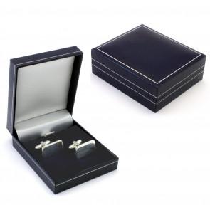 Luxus-Etui für 2 Manschettenknöpfe, blau