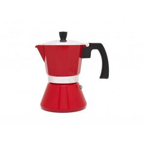 Espressokocher Tivoli 6 Tassen rot (Induk)